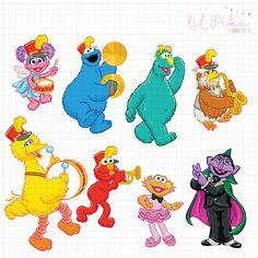 Sesame Street Characters Clipart by Parteestry on Etsy Sesame Street Muppets, Sesame Street Characters, Sesame Street Party, Sesame Street Birthday, Cartoon Characters, Elmo Plaza Sesamo, Owl Winnie The Pooh, Disney Clipart, Yosemite Sam