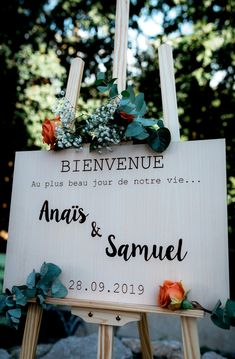 Wedding welcome sign – original wooden sign for ceremony - Wedding Supplies Cake Games, Wedding Welcome Signs, Woodland Party, Holiday Cocktails, D Day, Wedding Programs, Wedding Supplies, Wooden Signs, Eat Cake