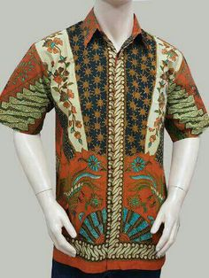 Kemeja batik motif milo . Batik solo 125000 idr