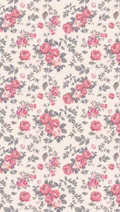 Jardin de roses vintage