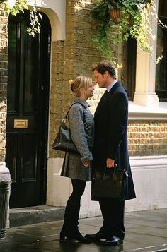Renee Zellweger and Colin Firth in the Bridget Jones Diary movies.