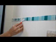 E se Esta Casa Fosse Minha!?: Faça você mesmo: Como aplicar pastilhas de vidro com fita dupla face!