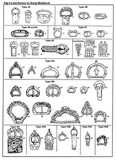 Saxon and early medieval buckles - the website has text explaining some dating - but assume 22 - 25