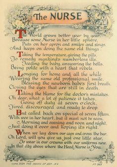 "On Etsy: Antique 1926  ""The Nurse"" Poem Framed Motto Art Print from CurioCabinet, $28.00"