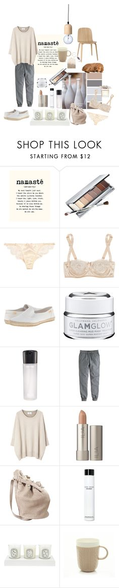 """Namasté"" by nathalie-puex ❤ liked on Polyvore featuring Clinique, Agent Provocateur, Dolce&Gabbana, Bloomingville, Muuto, Rocket Dog, GlamGlow, MAC Cosmetics, J.Crew and Allude"
