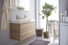 Ikea Small Bathroom Furniture Sets With Wood Vanity And Countertop Sink In  Catalog 2015 #smallbathroom