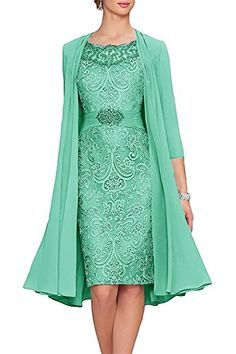 APXPF Women's Tea Length Mother Of The Bride Dresses Two ...