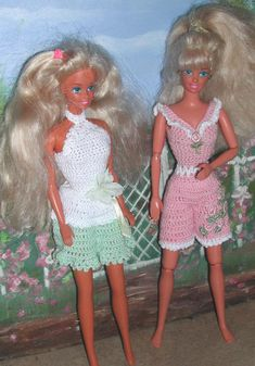 Crochet Fashion Doll Barbie  Pattern- #373 FUN in the SOUTH #2