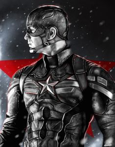 Captain America: The Winter Soldier black version. by p1xer.deviantart.com on @deviantART