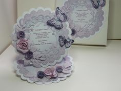 PRETTY! (Ref:B8) My favourite card made using various dies from Memory Box, Marianne, Spellbinders & Sizzix. A bit of ink and glitter makes this a magical easel card. Papers from a Tatty Teddy cd.