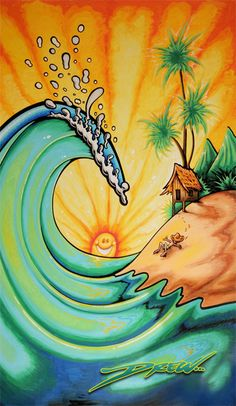 BEAUTIFUL BEACH (c) Drew Brophy 2006 - Painted for Wham O Boogie Board