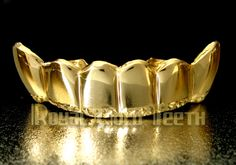 Bottom Grillz - Yellow Gold Grillz  Model: BY-502  Price: $170  Description: 10k 6 pc   Visit- http://www.royalgoldteeth.com/
