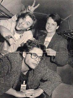 Judd Nelson, Michael J. Fox and Rob Lowe. http://bit.ly/12hCgNp