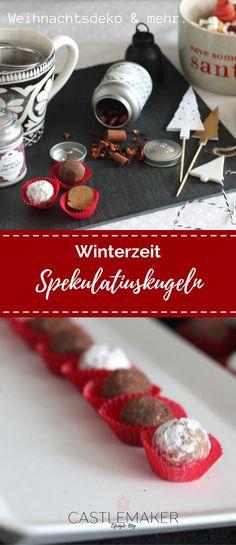 Spekulatiuskugeln sind einfach und schnell zubereitet und ergeben ein tolles Geschenk aus der Küche oder machen sich gut auf dem Plätzchenteller. Das Rezept auf meinem Blog, WERBUNG #pralinen