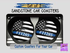 Used Car Poster Retro Product Baby Shower Gifts, Baby Gifts, Bosses Day, Sandstone Coasters, Blue Line Flag, Custom Coasters, Grandparent Gifts, Grandpa Gifts, Thin Blue Lines