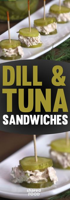 Tuna sandwiches were always on the menu when I was a kid and still are today. Next party you throw check out these tuna with herbaceous dill sandwiched between 2 crunchy pickle slices!