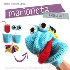 Tutorial que muestra el paso a paso para tejer una marioneta #amigurumi #crochet #DIY