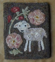 Hollyhock Pattern Only 9 x 11 1/2 by northwestfolkdesign on Etsy, $35.00.  Adorable.
