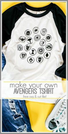 Avengers Symbols svg cut file for tshirts and more - love this idea!! perfect for Endgame! - - Sugar Bee Crafts
