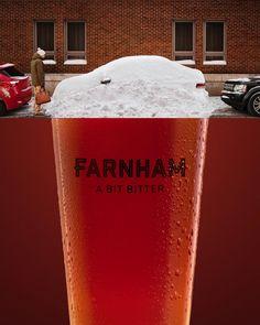 Farnham Ale & Lager Print Advert By A bit bitter Print Advertising, Print Ads, Creative Advertising, Ale, Beer Tasting, Smirnoff, Candy Shop, Ad Design, Bitter