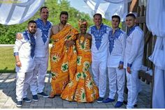 When Ghana meets Italy. Congratulations Lady and Anthony. Photo by