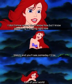 ariel, disney, the little mermaid - inspiring animated gif picture on . Little Mermaid Quotes, Little Mermaid Drawings, Little Mermaid Movies, Disney Little Mermaids, Ariel The Little Mermaid, Disney And More, Disney Love, Disney Magic, Walt Disney