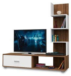 The Latest Minimalist Cheap TV Rack Model T inable Tv Unit Furniture, Home Furniture, Furniture Design, Tv Pallet, Lcd Panel Design, Tv Wall Cabinets, Modern Tv Wall Units, Rack Tv, Living Room Tv Unit Designs