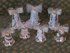 Новогодние колокольчики в стиле канзаши