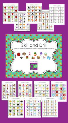 Articulation Skill and Drill for /k, g/, /l/, /r/, /s, z/, /th/, /sh, ch, j/