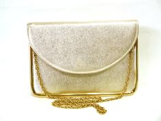 Vintage Purse Gold Evening Bag Original HL clutch mini briefcase Messenger Evening Bag by KMalinkaVintage on Etsy