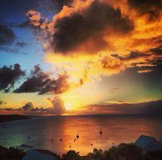 Sunset in Anguilla at Ce' Blue Resort #CeBlueResort #Sky #Cebluevillas #sunset #clouds #sea #villa #view #anguilla Clouds, Sky, Villas, Sunsets, Places To Go, Things To Do, Bucket, Outdoor, Beautiful