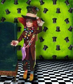 Monster High Alice Wonderland Mad Hatter Disney Barbie Doll House Furniture OOAK | eBay