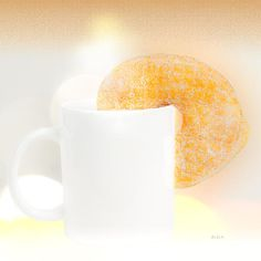Coffee and Donuts - Original fine art food and drink photography by Bob Orsillo.  Copyright (c)Bob Orsillo / http://orsillo.com - All Rights Reserved.  Buy art online.  Buy photography online