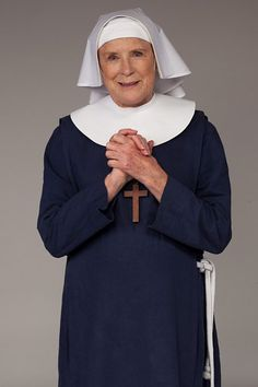 BBC One - Call the Midwife - Sister Monica Joan (Judy Parfitt) Born into a leading titled family, Sister Monica Joan was one of the first women in Britain to qualify as a midwife.