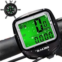 Cycling Computers - Zacro Bike Computer BS251 Original Wireless Bicycle Speedometer with Backlight Multi Function Bike Odometer Cycling with Compass Key Ring * Be sure to check out this awesome product.