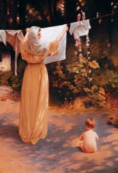 """She remained hidden for thirty years at Nazareth with the Savior. There her chief concern was to raise her Divine Son, to merit increasingly the confidence of her husband, & to provide her family with what they needed by working as her strength allowed. The best state for you is not the one you think perfect, but the one in which God has placed you.""  ~from The Imitation of Mary by Alexander De Rouville"
