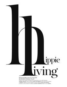 hippie living - editorial design