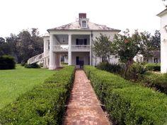 "Side view of the ""Big House"" Evergreen Plantation, Edgard, Louisiana."