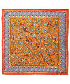 Exotic orange Imran #LibertyPrint silk scarf. Shop all Liberty scarves here http://www.liberty.co.uk/fcp/categorylist/dept/accessories_scarves_liberty #LibertyScarves