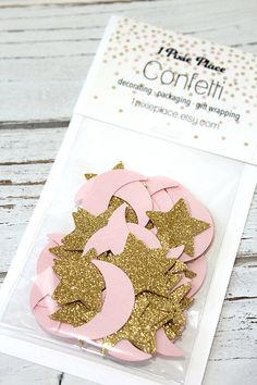 Pink+Moon+and+Gold+Stars+Glitter+Confetti++Baby+by+1PixiePlace