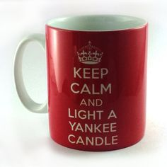 Keep Calm And Light A Yankee Candle Mug Cup Ideal Gift Present Christmas Birthday Teacher Assorted Colours Red Blue Purple Pink Black from TheWonderfulMugCo mug cup gift present KEEP CALM yankee candle candle mediation relaxation meditate relax yankee colours