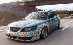 This is 2008 Saab Linear Sport with classic TiD Diesel engine, but with a beautiful with 18 tyres) alloy wheels and is lowered to the. Sax Man, Saab 9 3, Sticker Bomb, Car Mods, Car Tuning, Cool Stickers, Japanese Cars, Station Wagon, Diesel Engine
