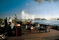 Royal Livingstone Hotel, Livingstone,Zambia; just above the Victoria Falls. A snack on the sun deck surrounded by stunning views of the Victoria Falls, a romantic dinner on a train, a sunset cruise on the Zambezi river, an ukuchina massage, an elephant ...