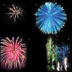Can you name the different fireworks? Here's how to tell which is which.