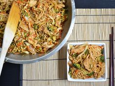 Chicken Yakisoba - Budget Bytes  Use only a few drops of Sriracha!! Even 1/2 tsp was too much for the kids. -cb