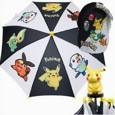 Cute Pokemon Umbrella Matching Cap for Kids by Accessory Innovations. $21.50