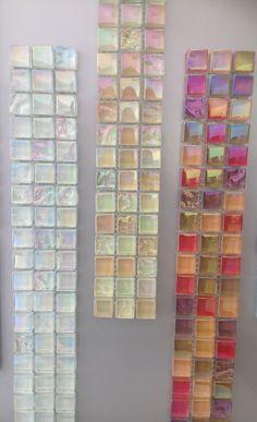 Candy coloured Lustrous Mosaic tiles