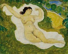"""Alfons Walde, """"Liegender Akt"""", Bleistift, Öl auf Papier, 22,5 mal 29 cm (Taxe 30.000/40.000 Euro)"""