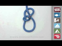 Bowline Knot Tying - Form a small loop leaving enough rope for the desired loop size. Pass the end of the rope through the loop as though making an overhand knot. Continue around the standing end and then back through the small loop.    from Animated Knots by Grog http://www.animatedknots.com  sailing, knots, Knots by Grog