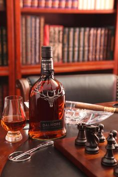 The Dalmore and an Opus X - the perfect scene for a relaxing afternoon.